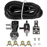 Kits de refuerzo de controlador de refuerzo de impulso de vehículo manual de válvula de turbo manual ajustable universal aptos para la mayoría de los autos - Negro
