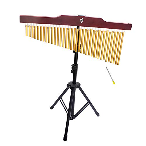 Ocamo 36-Tone Bar Chimes Einreihiges Windspiel-Musikpercussion-Instrument mit Tripod Stand Striker