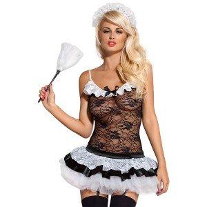 Obsessive Housemaid Hausmädchen 5-Teiliges Verführerisches Kostüm Für (Kostüme Verführerische)