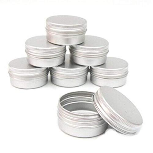 Switty 10pcs Balm Nail Art kosmetische Creme Make Up Pot Lippen Jar Zinn-Kasten-Behälter Schraube 15ml durch -
