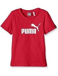 PUMA Ess Logo grande no muchachos camiseta, B, Color Rojo Red - Puma Red Talla:13 años