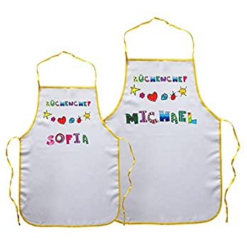 """Kinderschürze""""Küchenchef"""" mit Name   Größe 65 cm"""
