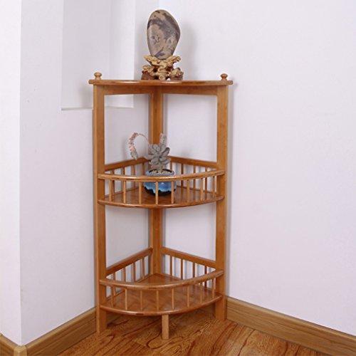MMM- Cadre en angle de bambou Salon Coin Espace de rangement Armoires à étagères Porte-fleurs ( taille : 84cm )