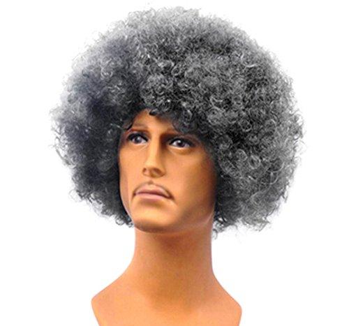 Fashion Funny Halloween Charakter Rollen Lachen Unisex Perücke Head Explosion Gr. M, schwarz / (Perücke Charakter Schwarz Curly)