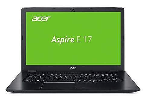 Acer Aspire E 17 (E5-774G-54KZ) 43,94 cm (17,3 Zoll) Notebook (Intel Core i5-7200U, 8 GB RAM, 128 GB M.2 SSD + 1000 GB HDD, NVIDIA GeForce 940MX (2 GB GDDR5 VRAM), Win 10 Home) schwarz