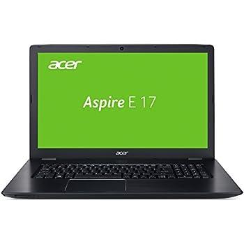 Acer Aspire E 17 (E5-774-3601) 43,94 cm (17,3 Zoll Full-HD matt) Laptop (Intel Core i3-6157U, 4GB RAM, 256GB SSD, Intel Iris 550, Win 10 Home) grau