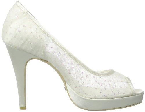 Menbur Wedding Sintra Damen Peep-Toe Pumps Elfenbein (Ivory 04)