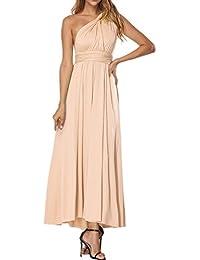 SELUXU Vestido de Las Mujeres de Alta Cintura Convertible Multi-Forma Abrigo Dama de Honor