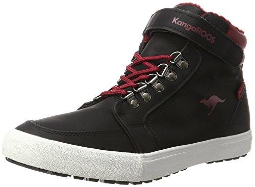 Canguro Unisex Adulto Nery Alta Sneaker Nero (nero Jet / Velluto Rosso)