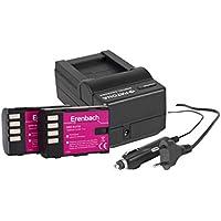 Juego de 3in1para el Panasonic Lumix G GH5/DC de GH5–-- 2x Eren BACHMANN batería para DMW-BLF19(1860mAh) +–Cargador rápido para cámara digital/videocámara incl. Cargador de Coche (12V)