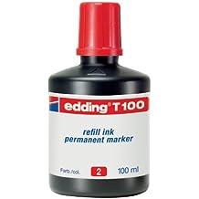 Edding T100-02 - Frasco tinta, color rojo