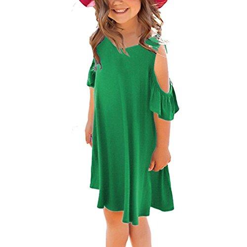 HUIHUI Solid Kurzarm Prinzessin Riemen Kleid Mädchen Billig Sommer Party Petticoat Kleid Strandkleidung Crazy Sales, 2-9 Jahr (13 (7-8Jahr), ()