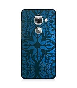 Gloss Gold Designer Back Cover for LeTv Le 2- Printed Back Case - Design Back Case for LeEco Le 2