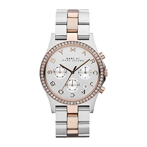 Marc Jacobs Damen-Armbanduhr Chronograph Quarz Edelstahl MBM3106