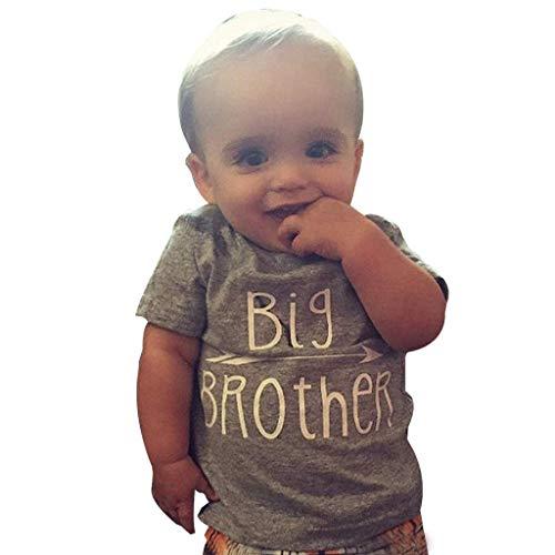 Kleinkind Tshirt Mit Spruch, Oyedens Kinder Jungen Kurzarm T-Shirt Brothers Brief Drucken Kurzarm T-Shirt Brothers Sisters Costume