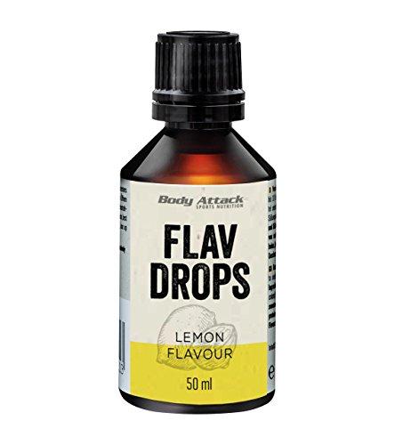 Body Attack Flav Drops, 1er Pack (1 x 50 ml) (Lemon)