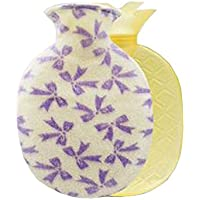 Warm Classic Kleine 0.8 L Warmwasserflasche mit Samtbezug - Lila (Bogenknoten, Ananasform) preisvergleich bei billige-tabletten.eu