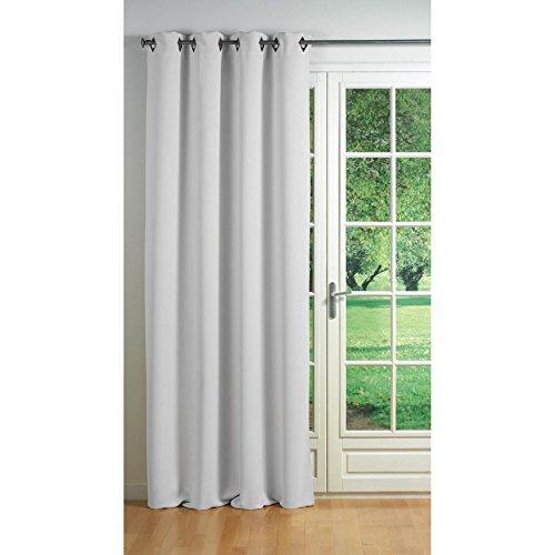 Douceur d'interieur 1600729, tenda con occhielli, 140 x 260 cm, cocoon, coprente unito, bianco