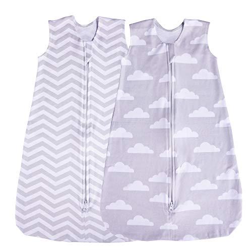 Jomolly - Saco de Dormir para bebé (2 Unidades), Color Azul Gris...