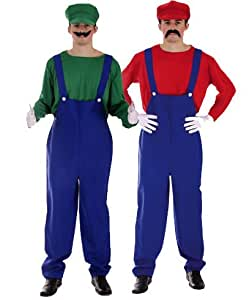 mario and luigi kost m super mario bros fancy dress costume karneval halloween spielzeug. Black Bedroom Furniture Sets. Home Design Ideas