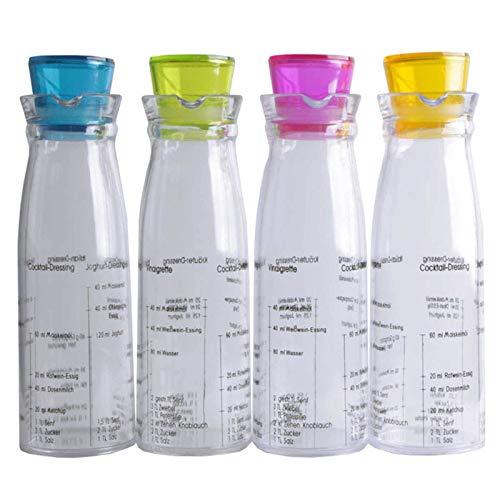 SIDCO Dressingshaker Shaker für Salatdressing Marinaden Soße Schüttelbecher mit Skala