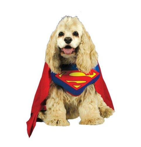 Halloween Kostuem Make-up Party Kleidung Festival Fasching Karneval Cosplay Maskerade Superman Haustier Hunde Kostuem (Make Kostüme Hund Up)