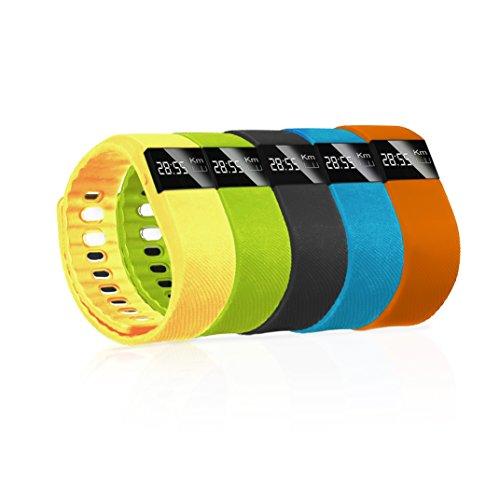 imperii Braccialetto di Fitness Smart Band, Bluetooth Krun: Arancione
