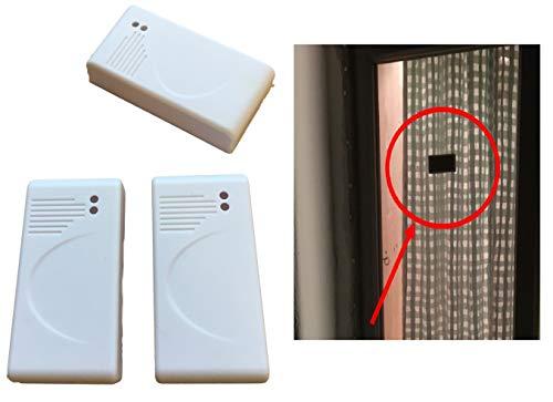 3x Glasbruch Sensoren ATTRAPPE - Fenster/Vibrationssensor SELBSTKLEBEND zum Abschrecken von Einbre