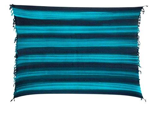 Große Auswahl Ca 50 Modelle / Farben zur Wahl - Sarong Pareo Wickelrock Strandtuch Tuch Wickeltuch Handtuch - Blickdicht - Handmade - Fair Trade Türkis Schwarz