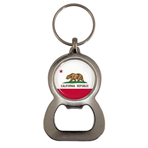 California US State Flagge Metall Flaschenöffner Schlüsselanhänger in Geschenk-Box
