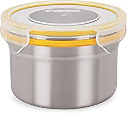 Steel Lock 1303 steel Airtight Storage Containers, 600ml, Set of 2 Assorted colors