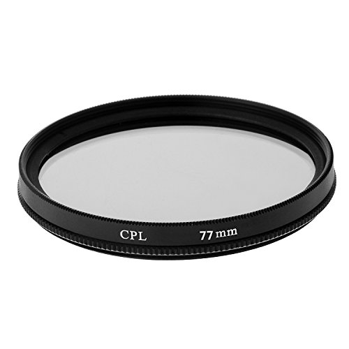 tinxi® 77mm CPL Multi Coated Zirkular polarisator Filter für Canon Nikon Sony Olympus Fuji Panasonic Samsung und andere DSLR-Objektiv