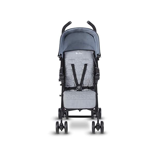Silver Cross Zest Powder Blue Silver Cross Ultra lightweight zest pushchair, weighing in at only 5.8kg, is suitable from birth up to 25kg It has a convenient one-hand fold, while the compact design makes it easy to store The fully lie-flat recline is best in its class 4