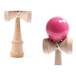 B /& Julian/® Kendama con corda palla di legno ricambio Cattura Gioco di abilit/à in legno naturale e colorati laccata lucida per principianti e professionale a partire da 9 anni