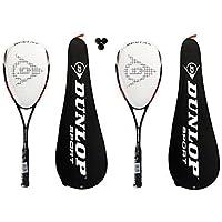 2 x Dunlop NanoMax Tour Squash Rackets + Cover + 3 Squash Balls RRP £375