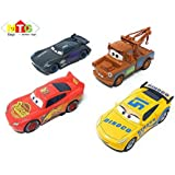 Metro Toys Metal Master Cars3 Die Cast Car's With Pull Back Function - Set Of 4 ( McQueen,Cruiz Ramirez,Jackson Storm,Smokey).