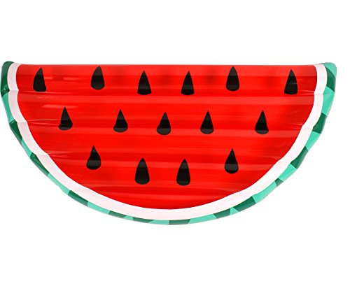 AIRTIME Inflatable Pool Float Giant Watermelon Slice Lounge Toy Summer