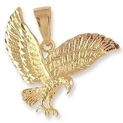 Idea Regalo - LIOR-Pendente placcato in oro a forma di aquila