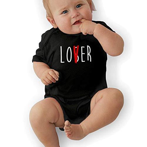 FAFANIQ Lover Not A Loser Unisex Baby Short Sleeve Bodysuit-0-3M