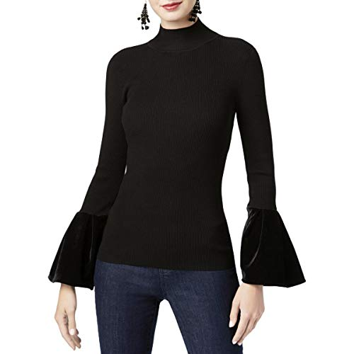 Gerippte Mock Neck Sweater (INC International Concepts Women's Velvet-Cuff Mock-Neck Sweater)