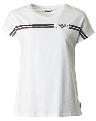 Athletic-logo T-shirt (Emporio Armani Athletic Logo Short Sleeved T-shirt LARGE WHITE)