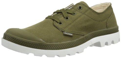Palladium BLANC OX Unisex-Erwachsene Sneakers Grün (DK OLIVE/WHITE 328)