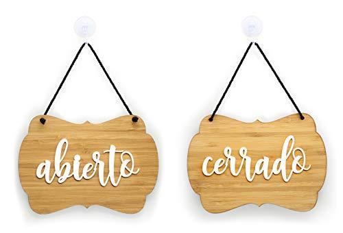 3DP Signs | Shabby Chic - Abierto Cerrado Cartel Doble