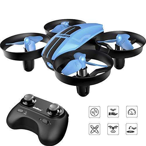 SANROCK U46 Mini Drohne für Kinder und Anfänger, RC Drone, Quadrocopter Mini Helikopter mit Höhehalten, Kopflos Modus, 3D Flips und 3 Geschwindigkeitsmodi, Propeller voll zu schützen,Farbe bla