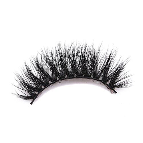 SUNSKYOO 3D Kunstfell Nerz gefälschte Wimpern natürliche Lange Machen chaotisch Flirty gefälschte Wimpern lockige leichte falsche Wimpern für Frauen, schwarz (# 67)