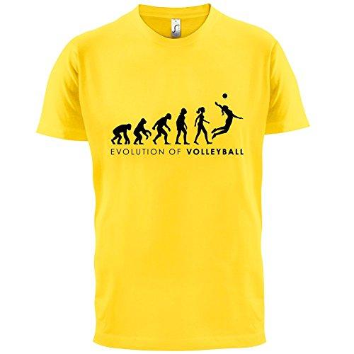 Evolution of Woman - Volleyball - Herren T-Shirt - 13 Farben Gelb
