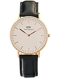 Daniel Wellington 0513DW - Reloj con correa de piel para mujer, color blanco / gris