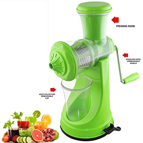 Magikware Fruit & Vegetable Manual Hand Juicer with Vaccum Lock, Orange