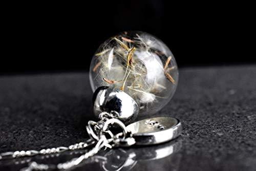925er Silber Echte Pusteblumen Kette | Exklusive Schmuckschachtel | Tolle Geschenkidee
