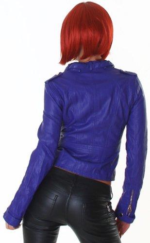 Voyelles Damen Jacke in Leder-Optik Lila